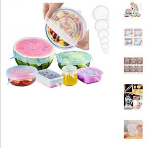 Set of 6 silicone lids-new